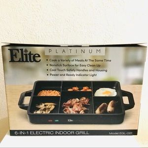 NIB Elite Platinum 6-in 1 Electric indoor Grill